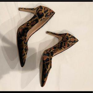 Jessica Simpson Velvet Leopard Heels